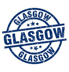 Glasgow blue round grunge stamp vector