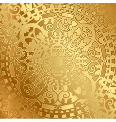gold background with oriental decoration vector image