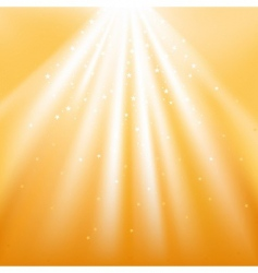 golden light rays with stars vector image vector image