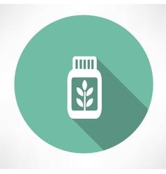 herb medicine icon vector image vector image