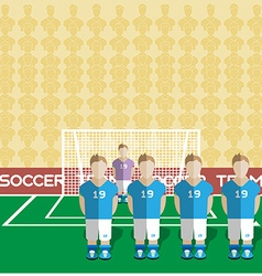 Italy Soccer Club Penalty on a Stadium vector image vector image