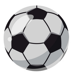 Leather soccer ball icon cartoon style vector