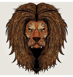 Lion brown colored vector