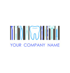 logo for dental company clinic office vector image vector image