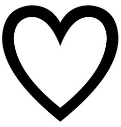 Minimalistic black heart icon template vector image vector image