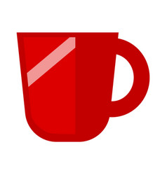 Minimalistic red mug vector