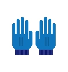 Mitten Gloves icon vector image vector image