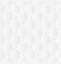 Neutral white arabesque texture vector