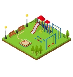 Outdoor playground isometric view vector