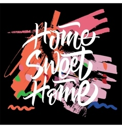 Sweet Home Calligraphy vector image vector image