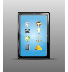 touch screen tablet vector image vector image