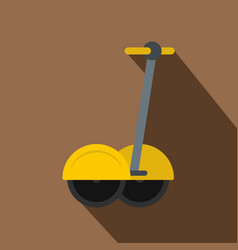 Yellow two wheeled electric vehicle icon vector