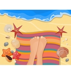 Gentle care feet composition vector