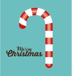 Merry christmas candy cane vector