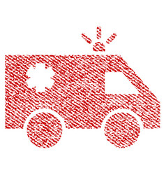 emergency car fabric textured icon vector image