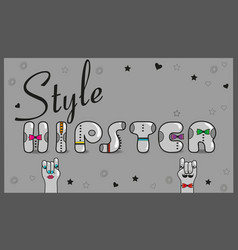 Hipster style vintage card vector
