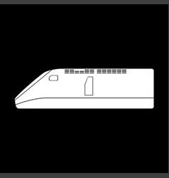 Speed train icon vector