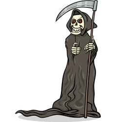 Death skeleton cartoon vector