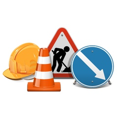 Road construction concept vector