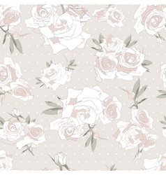 Floral seamless pattern background with roses vector