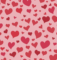 Love red heart seamless background bright pattern vector image