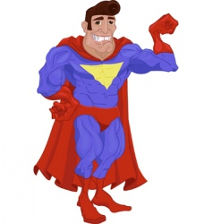 hero cartoon vector image
