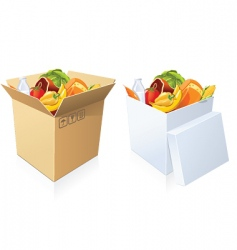 basket of goods vector image
