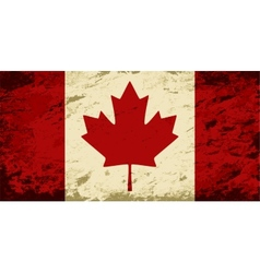 Canadian flag grunge background vector