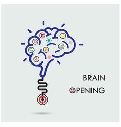 Brain opening concept vector