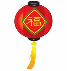 Chinese red lantern vector