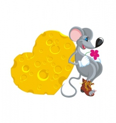 in love the mouse copy vector image