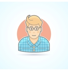 Hipster designer artist icon avatar and person vector