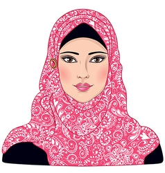 Arab girl vector