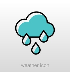 Rain cloud rainfall icon meteorology weather vector