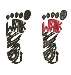walk humbly vector image