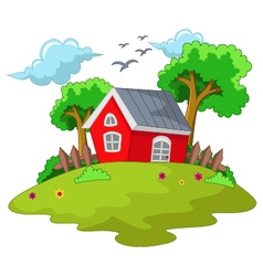 Cartoon house for your design vector