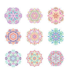 abstract flower pattern mandala ornament floral vector image