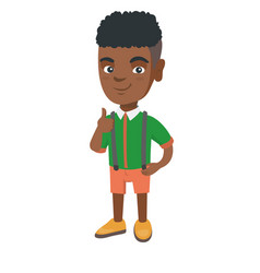 african-american little boy giving thumb up vector image
