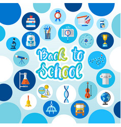 Back to school logo text on background with vector