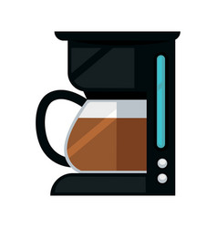 Black colored coffee making machine vector