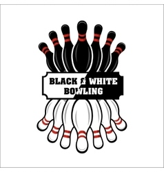 Bowling team or club emblem vector image vector image