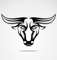Bulls Head Tribal vector image vector image