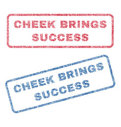 Cheek brings success textile stamps vector