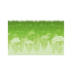 colorful lanscape with natural forest vector image vector image