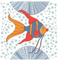 Cute little fish vector