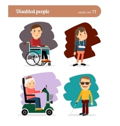 Ill people characters vector image