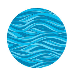 marine pattern with stylized blue waves in vintage vector image vector image