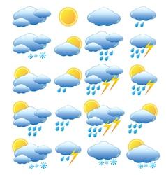Meteorology set vector image