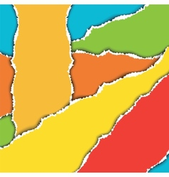 Pieces of torn colorful sheets of paper vector image