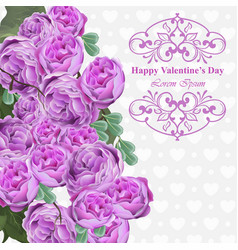 pink peony flowers card background floral vector image vector image